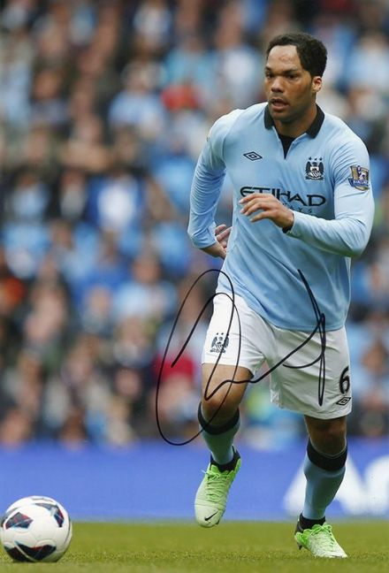 Joleon Lescott, Manchester City & England, signed 12x8 inch photo.